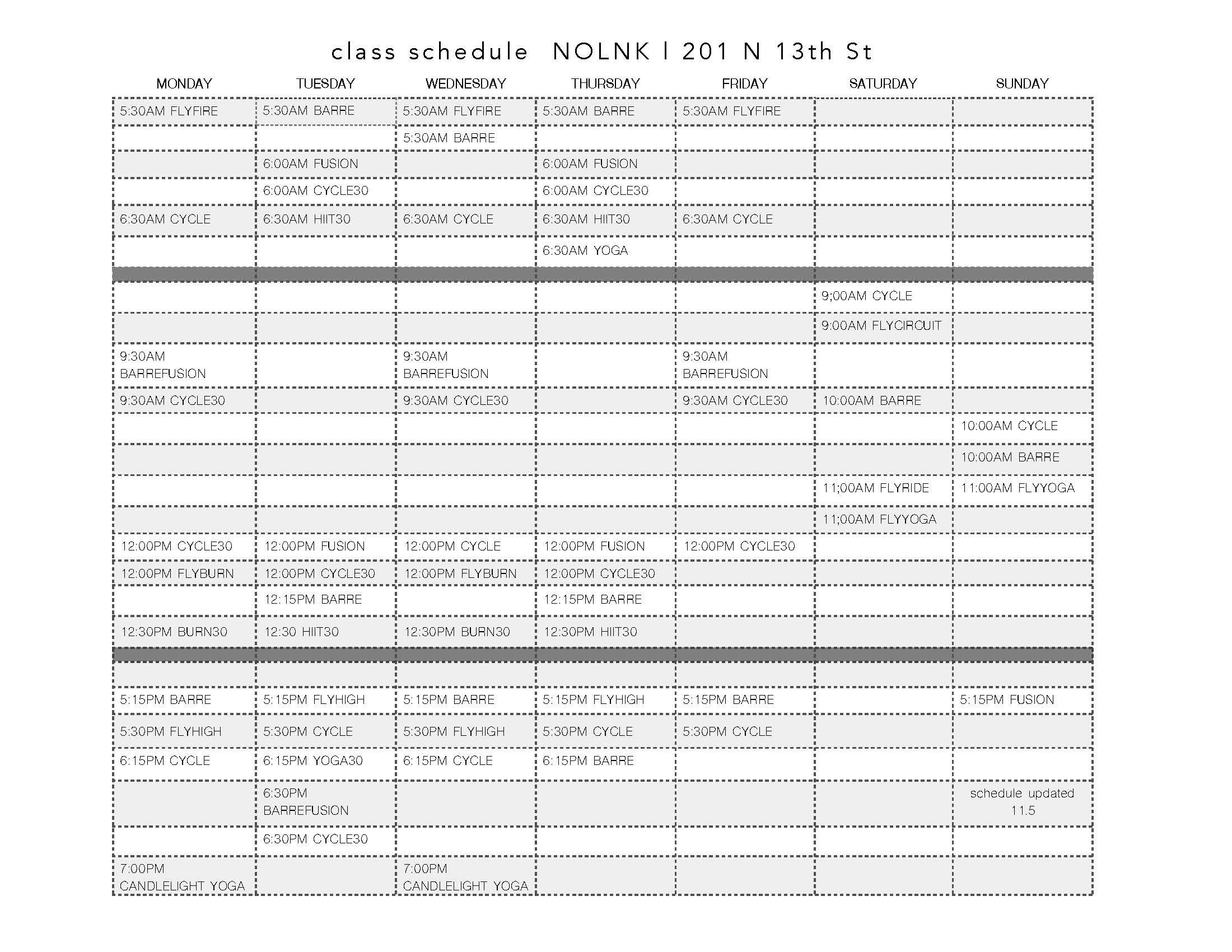 Fly class schedule lincoln ne