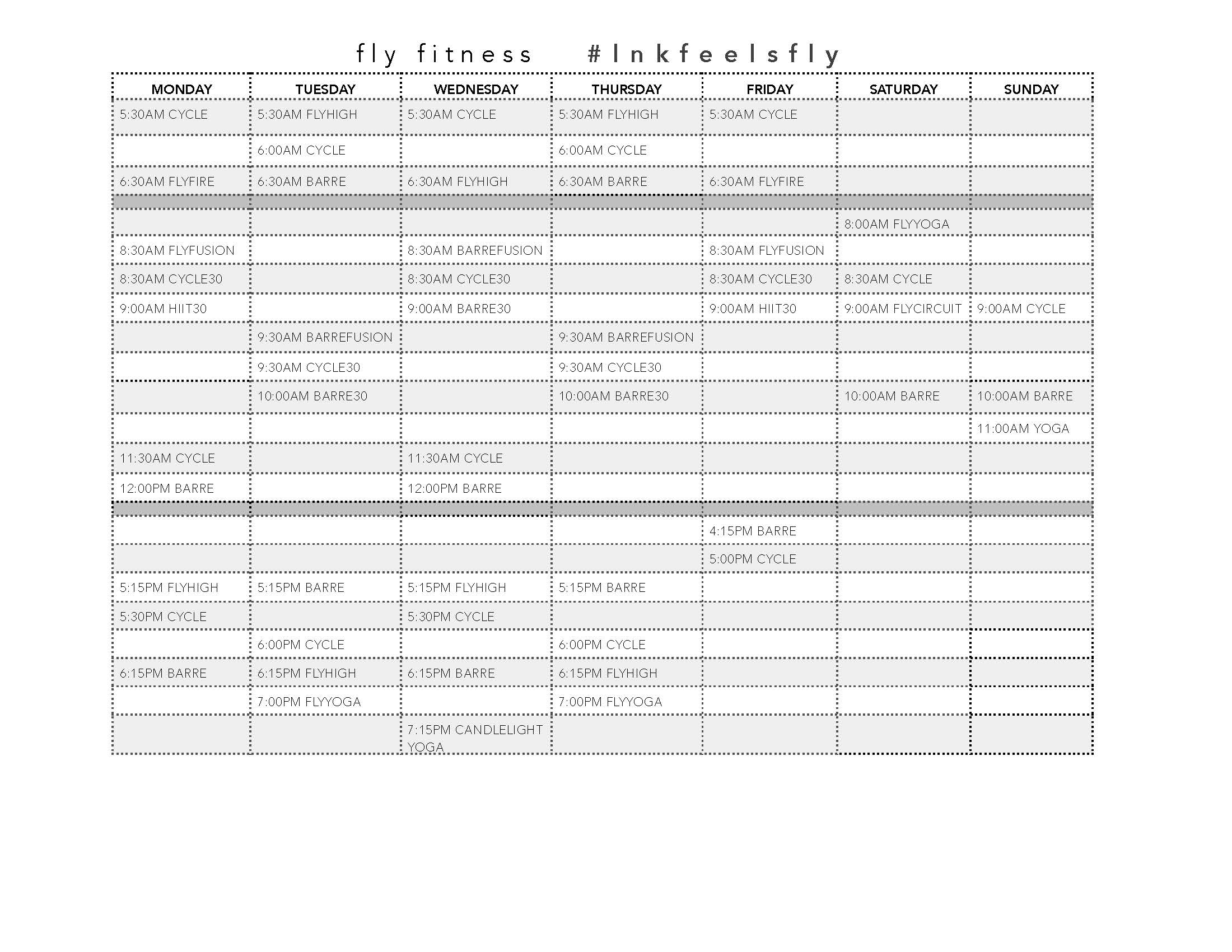 Fly class schedule south lincoln ne